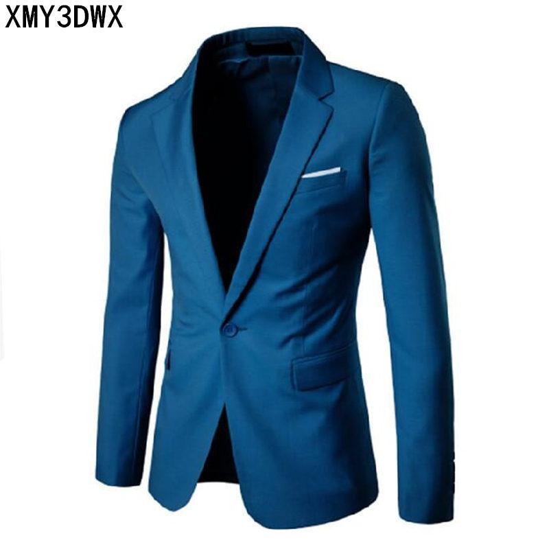 Acquista 2018 Fashion Party Giacca Da Uomo In Cotone Slim Fit Giacca Nera  Blu Grigio Taglia Più L 6xl Giacca Uomo Cappotto Da Uomo Abito Da Sposa A   50.39 ... f92769c3816