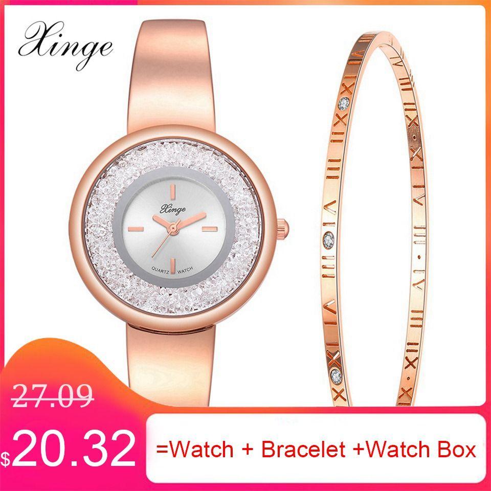 7f9011fecede Wholesale Brand Bracelet Watches Luxury Women s Wristwatch Fashion Ladies  Creative Dress Clock Fashion Watch Set Gift Relogio Online with   80.35 Piece on ...