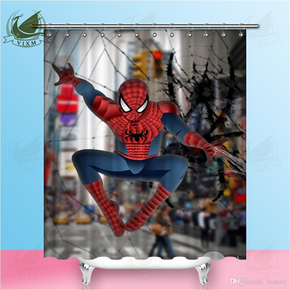 2018 Vixm Primitive Miracle Spiderman Venom Shower Curtains Polyester Fabric For Home Decor From Bestory 1665