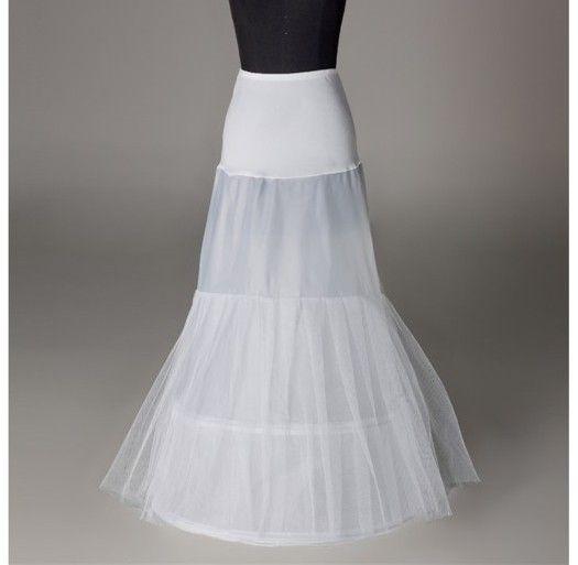 Beyaz Fildişi 1 Hoop Tül Mermaid Bayan Petticoat Düğün Gelin Elbise Için Kayma Sıkı Lady Jüpon Kabarık Etek Tam Örgün Parti Akşam