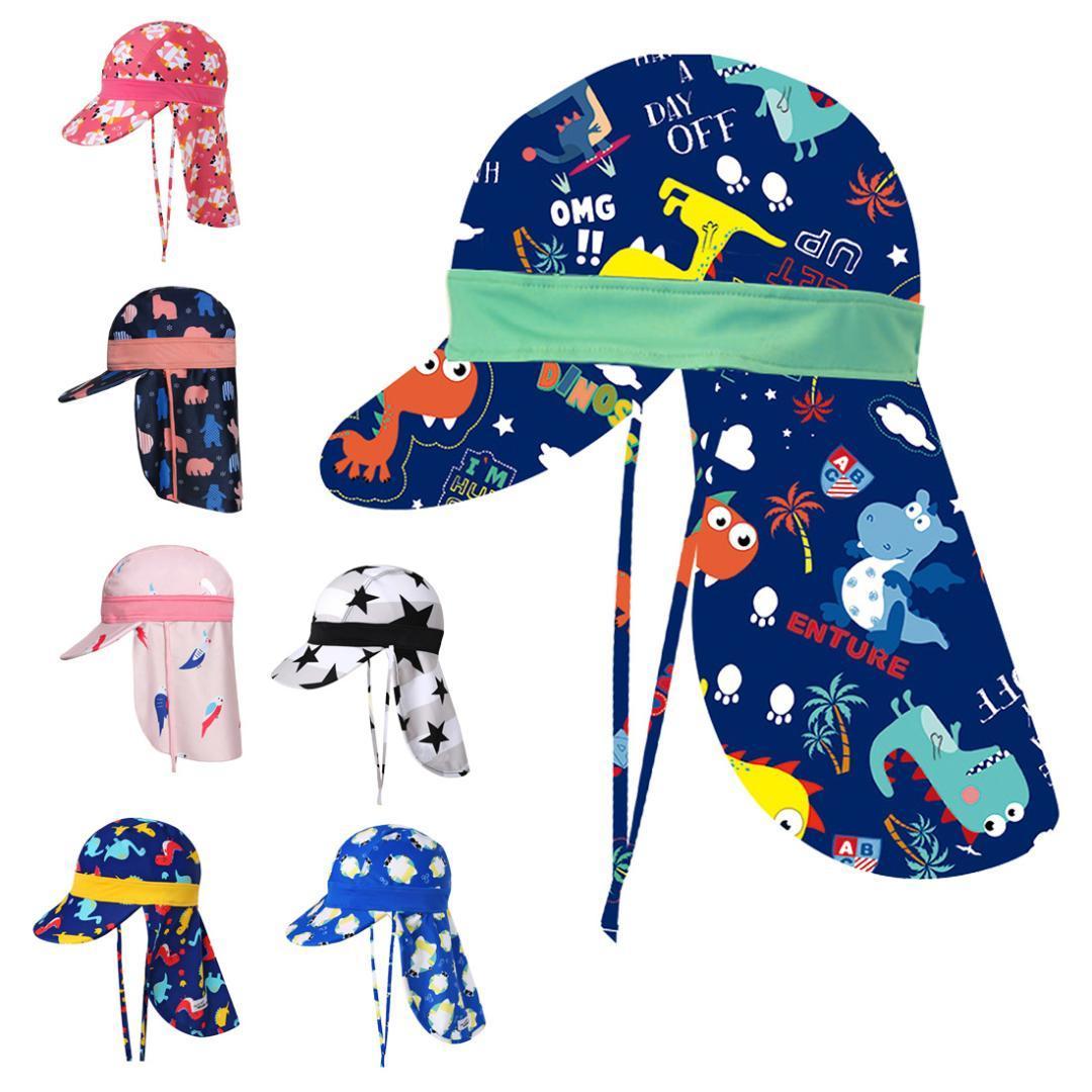 Acquista 2018 New Summer Children Cartoon Cuffia Da Bagno Swim Beach Cappelli  Da Sole Protezione Solare Impermeabile Ragazzi Ragazze Bambini Outdoor Hat A  ... 73308176812c