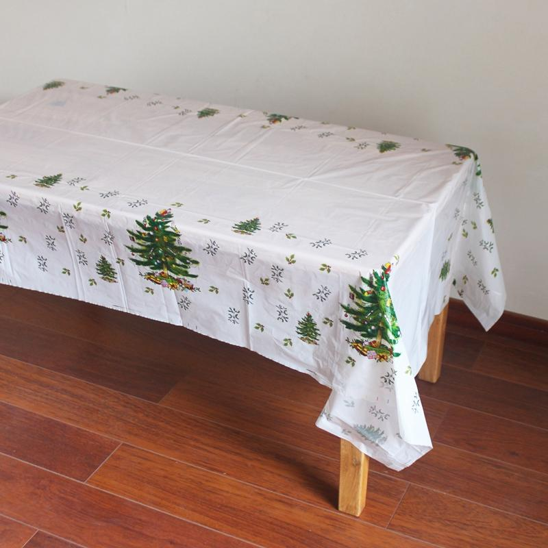 Disposable Plastic Table Clothes Table Cover Tablecloth Christmas