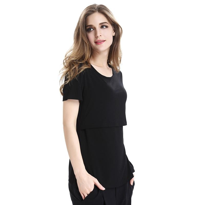 b9ac083da1b17 2019 Short Sleeve Breastfeeding Maternity Clothes Nursing T Shirt Summer Tops  Pregnant Women Pregnancy Clothing Casual Shirts Tees From Breenca, ...