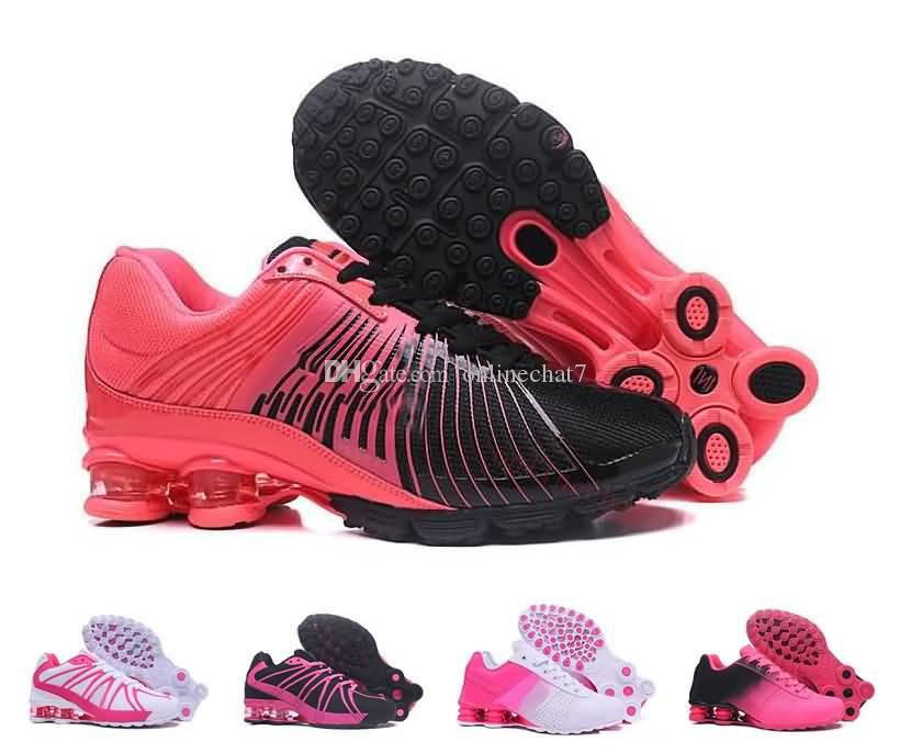 Damen Shox Outdoor Walking Laufschuhe New Classic Damen Shox Weiß Schwarz Rosa Sport Presto Trainer Sneakers Größen Eur36 40