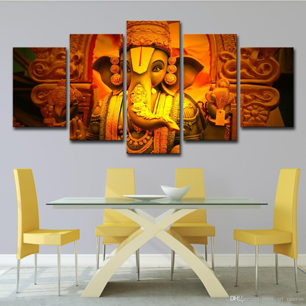 2019 Canvas Painting Wall Art Modern Hd Printed Elephant Head God