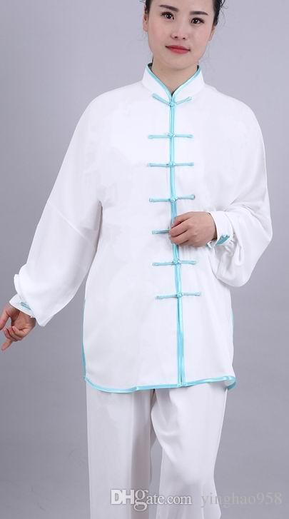 Хлопок плюс шелк Тай Чи Чуань одежда боевых искусств практика одежда производительность одежда