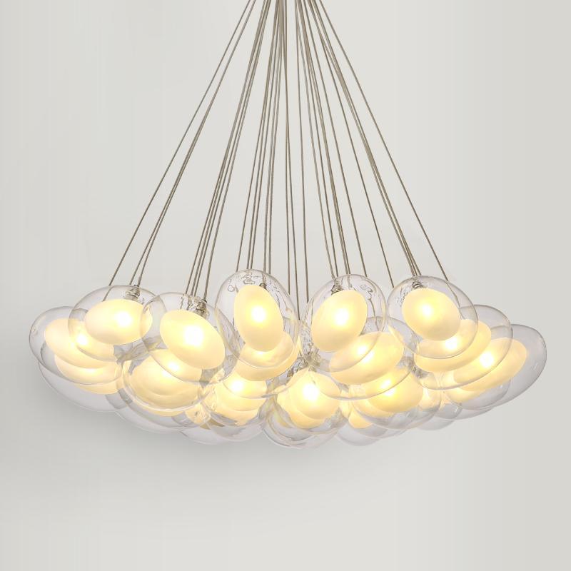 Modern Led Oval Egg Glass Ball Pendant Light 90 265v Clear Glass Led