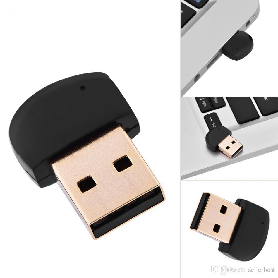 Mini lecteur USB Bluetooth v4.2 Adaptateur audio Transmetteur sans fil USB Dongle Microphone intégré pour haut-parleurs, casques, ordinateurs portables