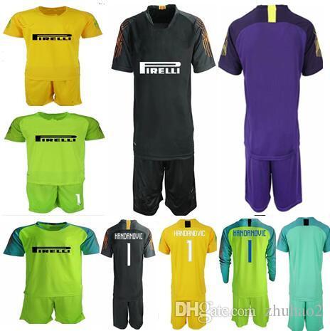 bfbdb15e964 2019 2018 19 Soccer Jerseys Goalkeeper Kit  1 HANDANOVIC GK Shirt Goalie  Uniforms ICARDI LAUTARO Football Kit For Man Customized Name From Zhuhao2