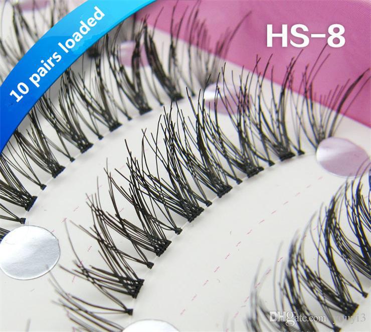 Top False Eyelashes Cross Sections Natural Long Fasle Eyelashes Curving Lengthening Sexy Eyemakeup 3D