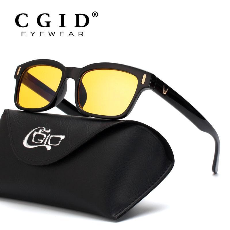 e810120560 Compre Cgid Unisex Anti Blue Light Computer Glasses 100% Protección Uv  Protección Contra La Radiación Marco Cuadrado Lente Amarilla Cy84 A $25.68  Del ...