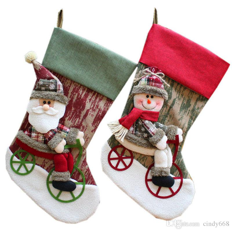 Cheap Sale Christmas Candy Gift Bag Decoration Props Snowman Deer Sled Socks Ornaments Xmas Party Pendant Navidad 2018 New Year Home Decor At Any Cost Diamond