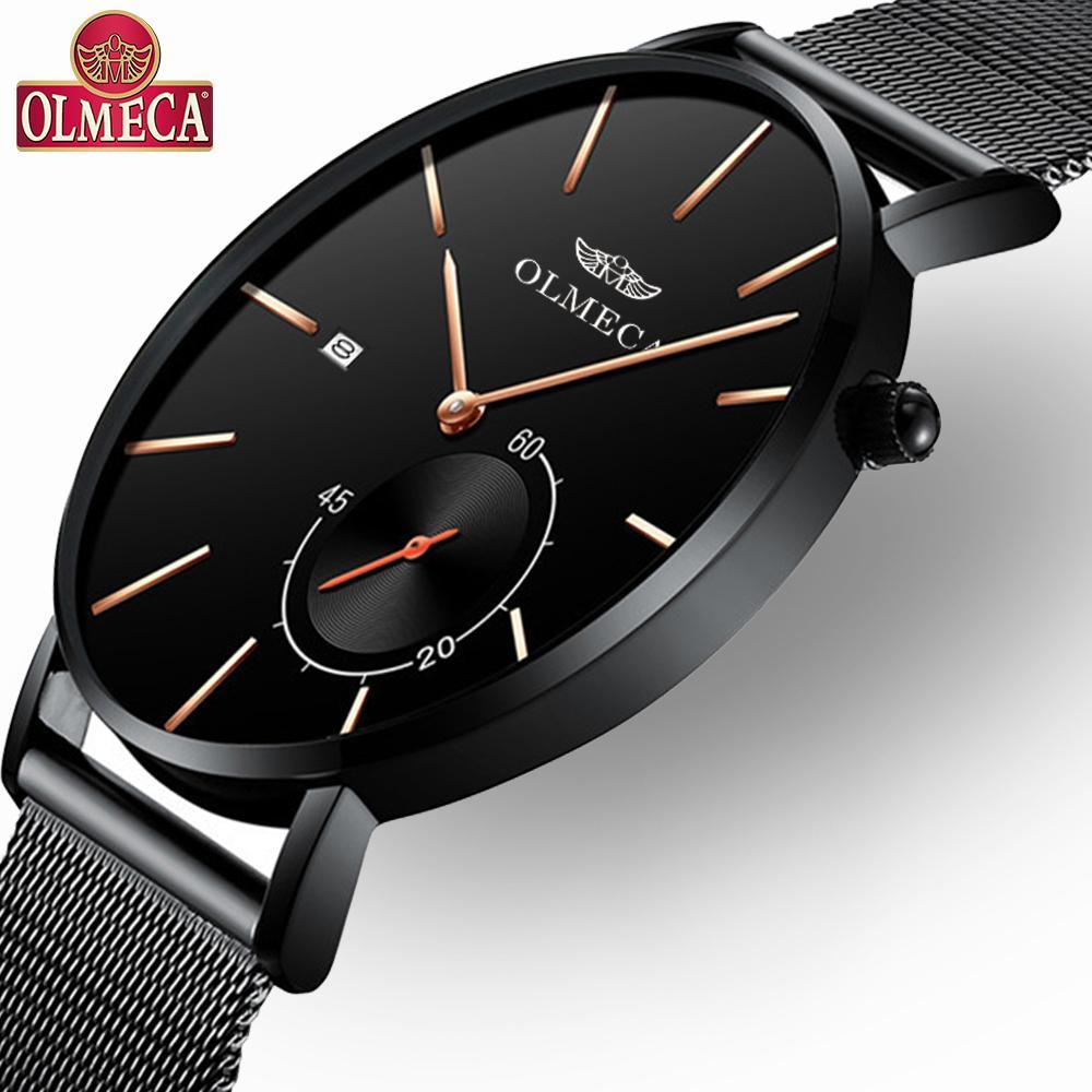 OLMECA Relogio Masculino мужские часы Роскошные спортивные 3ATM водостойкие хронограф