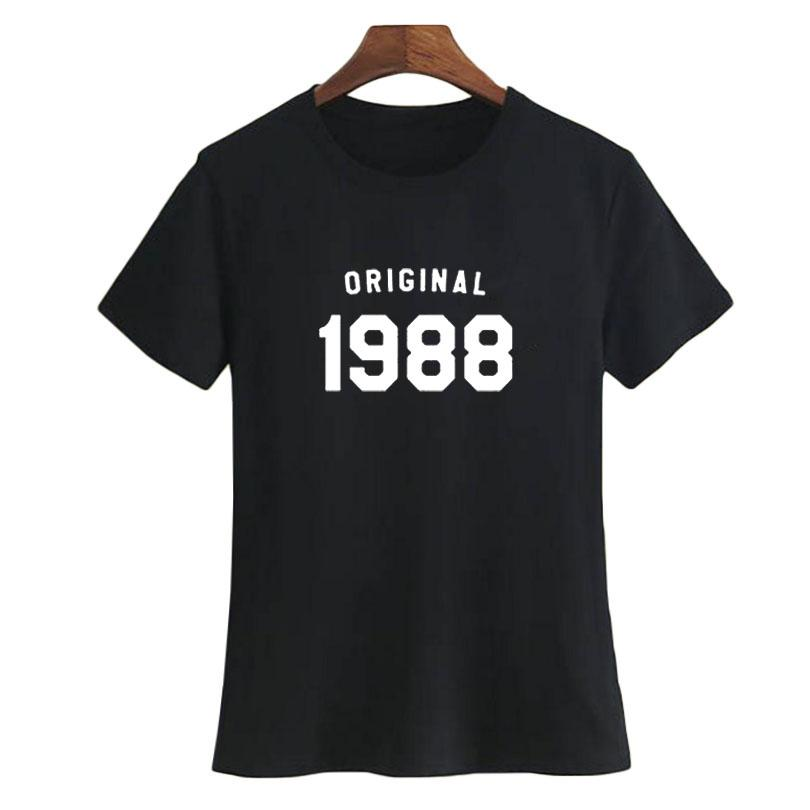 WomenS Tee 30th Birthday T Shirt Women Fashion Slogan Tshirt Best Gifts For Her Born In 1988 Ladies Party Buy Tees Funniest