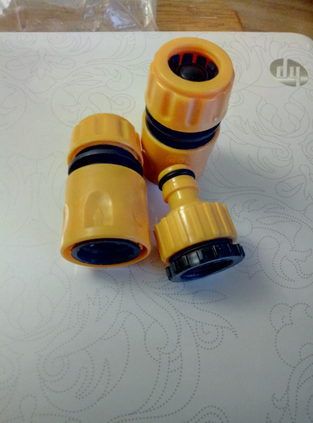 """Fast Coupling Adapter Drip Tape Irrigation Hose Connector With 1/2"""" 3/4""""barbed Garden Water Connector Irrigation Tool Kit"""