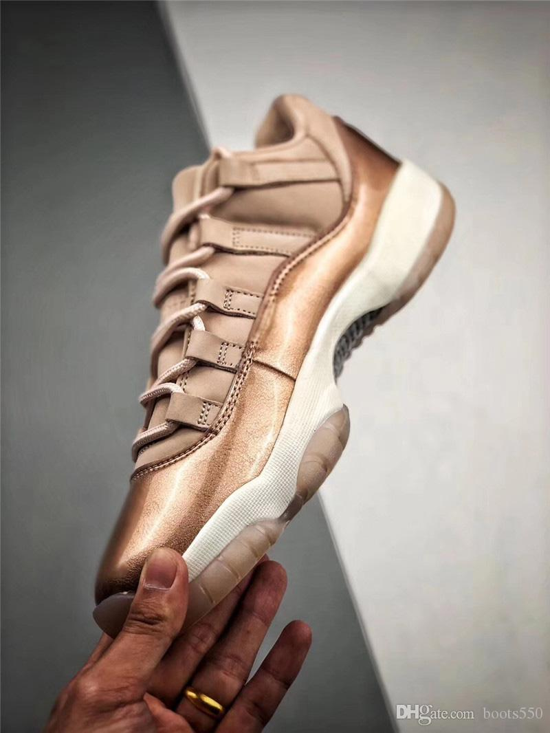 2a8af30cee1a New 2019 11 Low GS Rose Gold 11S Basketball Women Shoes Sneakers For Men  2018 Authentic Real Carbon Fiber AH7860 105 With Original Box Barkley Shoes  Shoes ...