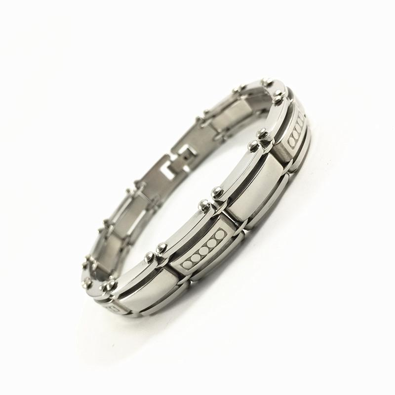 Again Jewel Fashion 316L Stainless Steel Bracelet Mens Custom Bracelets Bangles Wrist Band Hand Chain Jewelry Gift