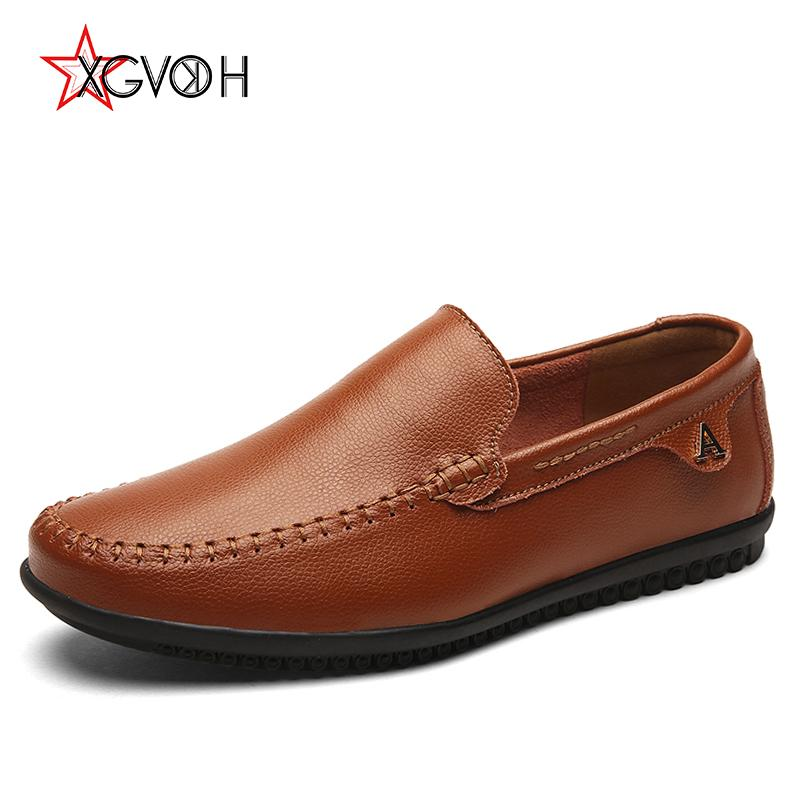 b4ade21233c Mens Shoes Comfortable Loafers Spring Autumn Slip On Driving Leather Shoes  Flats Italian Men Loafer Soft Plus Size Work Shoes Sneakers Shoes From  Caspink