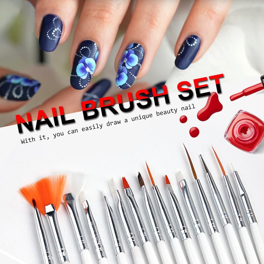 Nail Art Brush Dotting Painting Nails Pen Nail Brush Decorations Set ...
