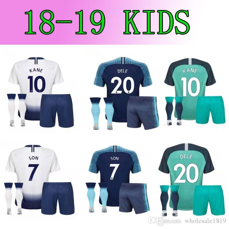 2019 2018 19 SPURS KANE Kids Soccer Jersey 2018 2019 Youth Soccer Jerseys  LAMELA ERIKSEN DELE SON Home Away Third Lamela Child Football Kit From ... 33cef953e