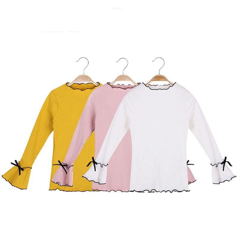 Compre DZIECKO Suéteres Para Niñas Mangas Acampanadas Color Caramelo ...