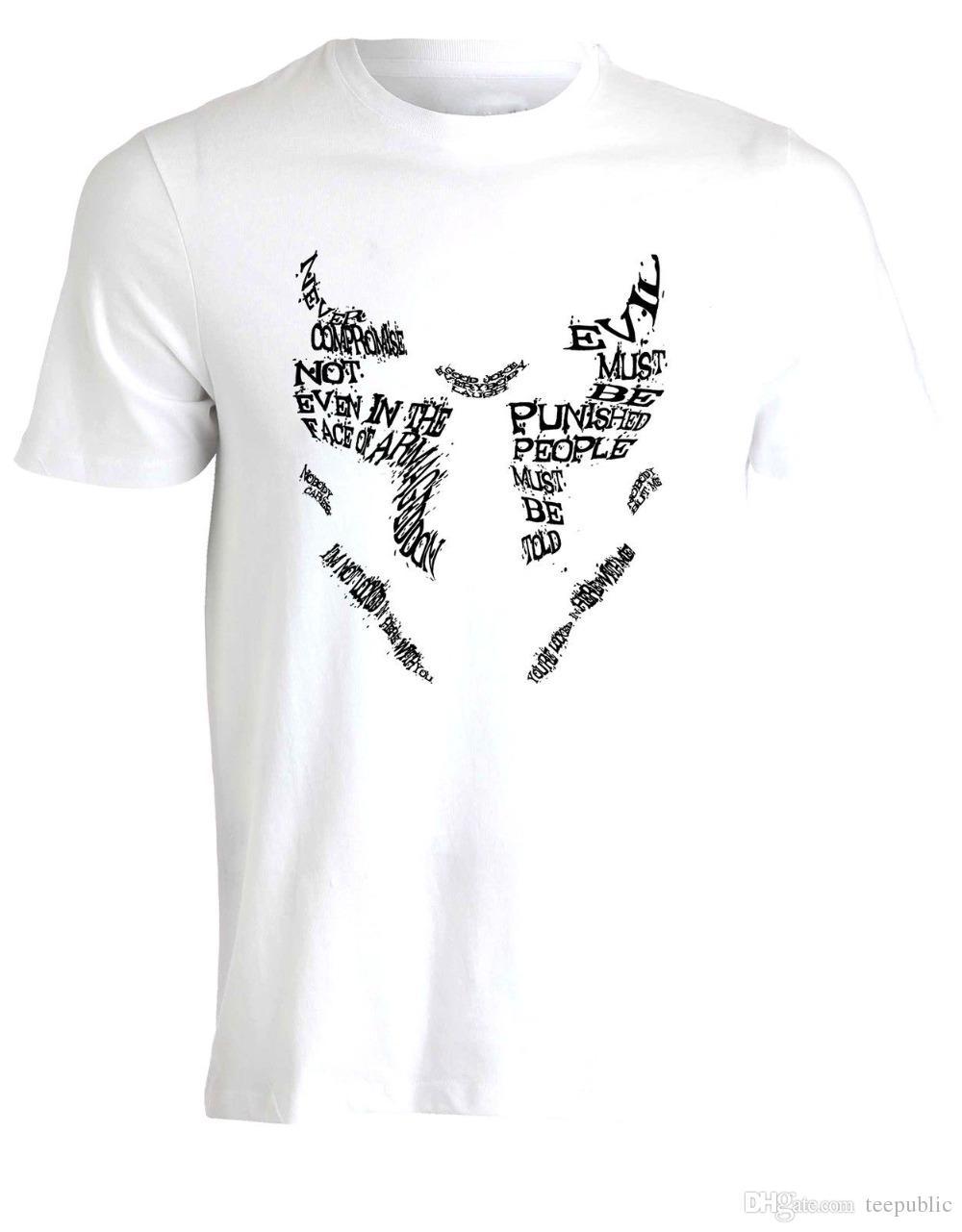 e36e7d6d693 Design Your Own T Shirt Office Rorschach Masque Ink Mate Citations Watchmen  Inspir Art T Shirt Pour Hommes O Neck Short Sleeve T The Coolest T Shirts T  ...