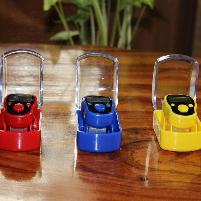 5 Digit Anzahl Mini Digital LCD Elektronische Hand Finger Ring Zähler Für Golf Multicolor Sport Mit Box 120 stücke