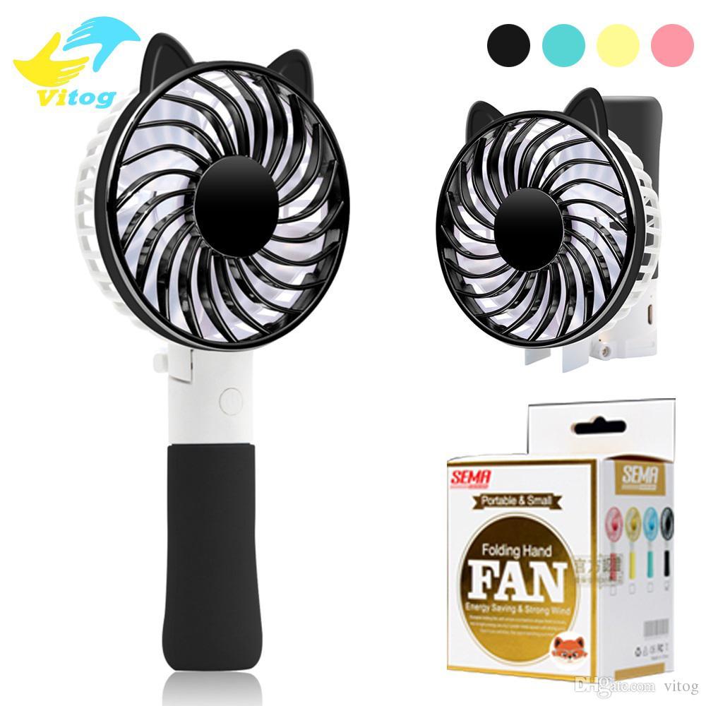 Tragbarer Mini Lüfter Faltender Fan-Taschen-Ventilator USB-Wieder aufladbarer