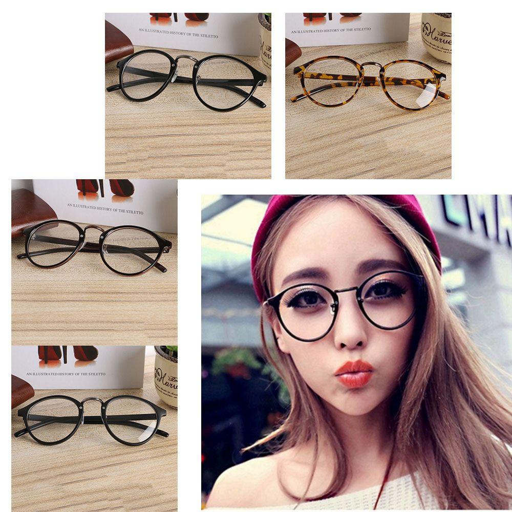 3e3126af6c 2019 Hot Sale ! Unisex Fashion Trendy Vintage Retro Frame Clear Round Lens  Nerd Geek Glasses Eyeglass Eyewear From Value111