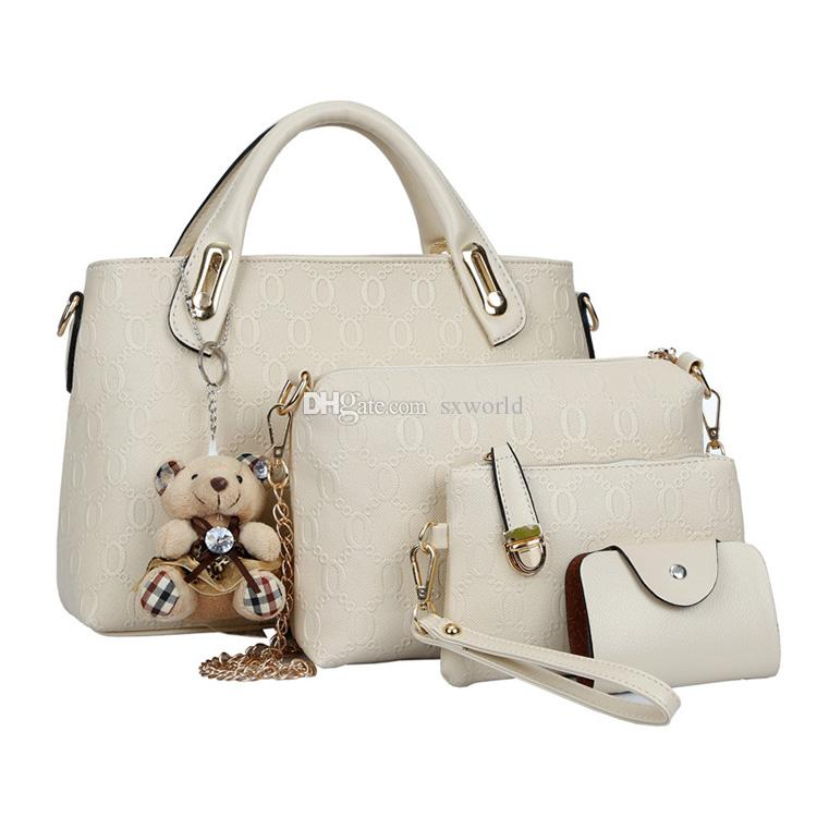 b8e0be3dcfe9 Beige Fashion Leather Composite Women Shoulder Messenger Hand Bag Leather  Hand Bag Online with  13.07 Piece on Sxworld s Store
