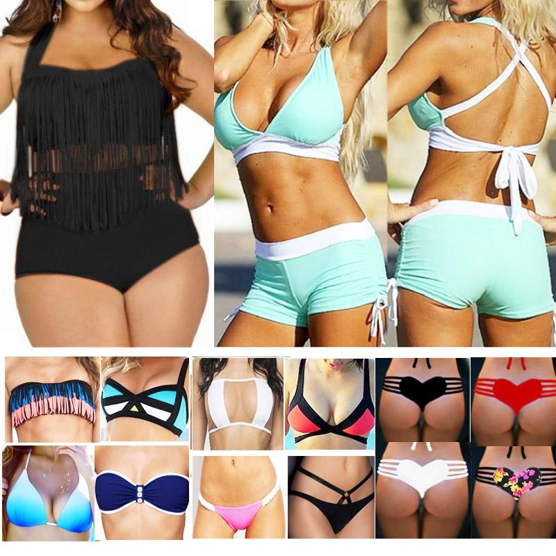 4e10f4a844c28 2019 Plus Size Swimwear For Women Mix Colors Fringe Tassels Bikini High  Waist Swimsuit Sexy Women Bathing Suit Padded Boho Swimsuit Monokini 2001  From ...