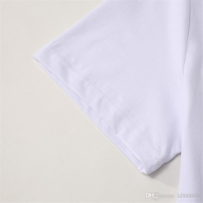 2018 16930 Fashion Design Brand Men's Casual Cotton Head portrait short sleeve T Shirts Slim M-3XL