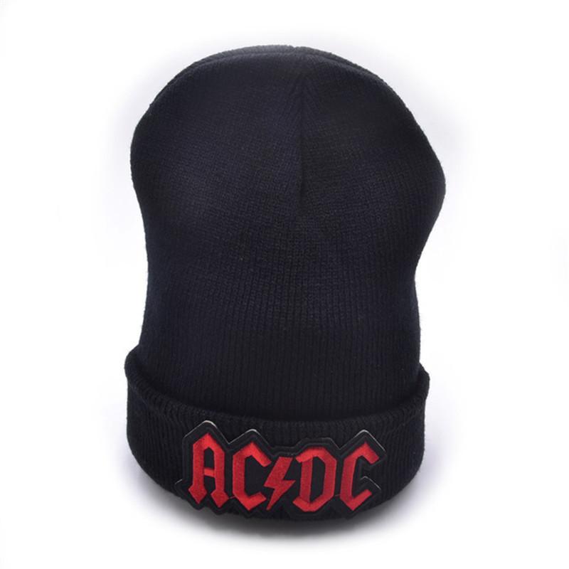 fcca1026dbf Latest Model AC DC Logo Wool Beanies Knit Men s Winter Hats For Men ...