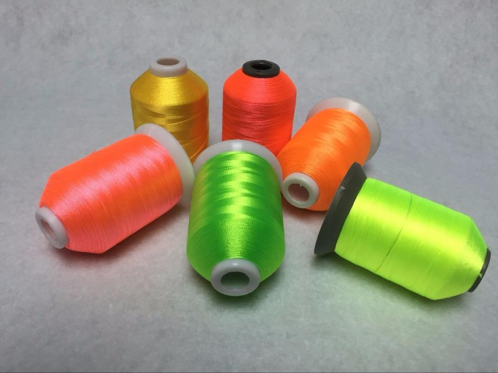 2018 New Arrived Polyester Embroidery Thread With Popular 6 Neon