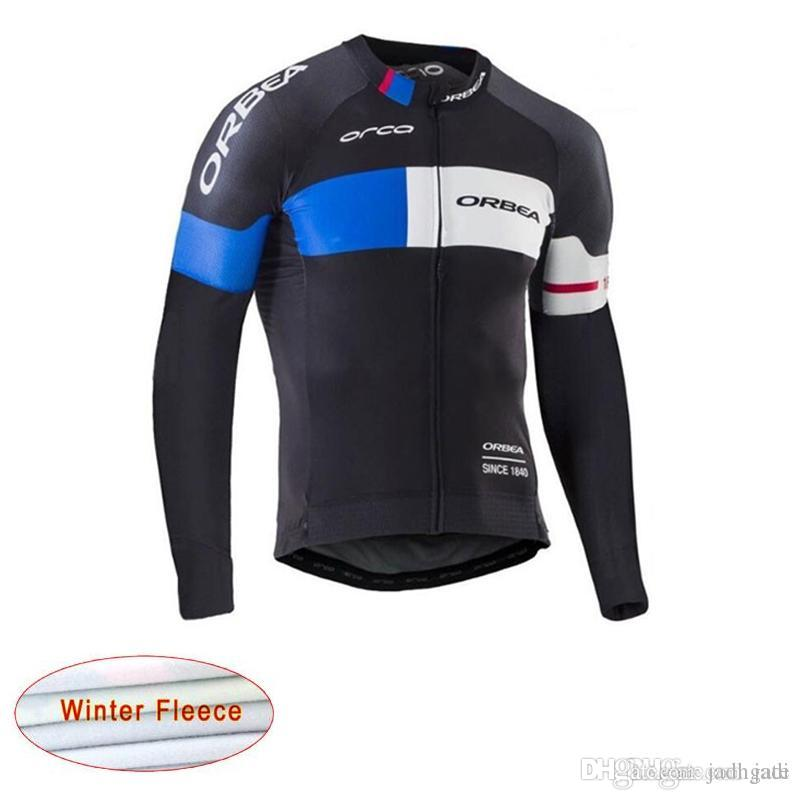 Ropa Ciclismo Bicycle Clothes Orbea Team Bike Thermal Fleece Jersey ... 9befac51a