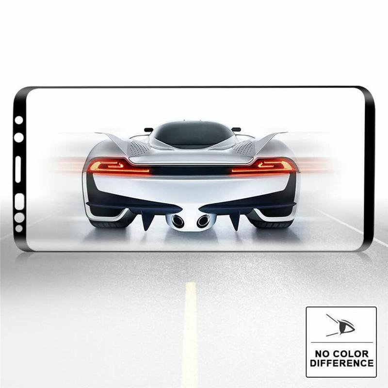 Am besten Fall-freundliche gebogene Kristallklarer ausgeglichener Glas-Schirm-Schutz für Samsung-Galaxie S9 S8 plus Anmerkung 8 9