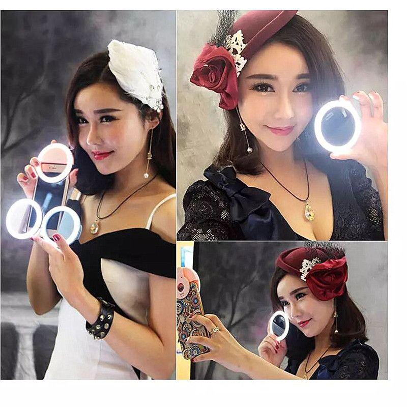 Universal recargable RK-12 Clip-on Light de relleno Compacto Mini LED Bead Phone Fotografía Selfie Ring Light para todos los teléfonos inteligentes