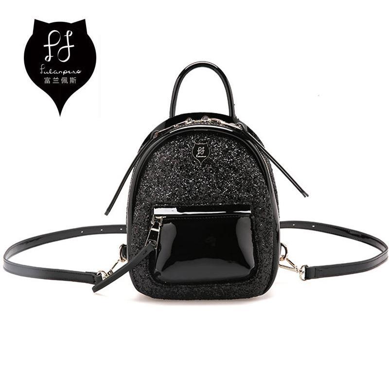 579d0e0be8 FULANPERS Women Mini Glitter Backpack Female Small Leather Black Bag  Stylish Back Pack Backpacfor Teenagers Girls School Bags Swissgear Backpack  Swiss ...