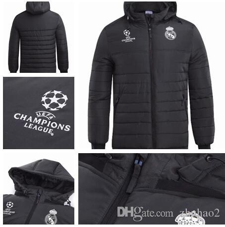 2018 Real Madrid Jacket Plus Thick MODRIC ASENSIO VINICIUS JR ISCO Camiseta  De Manga Larga De Fútbol Chaqueta Gruesa Con Cremallera Chándal Negro  Winter ... 5457f2db9c19b