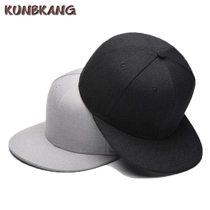 88ea9290918 New Brand Men Blank Hip Hop Baseball Cap Flat Hat Women Solid Color Cotton  Snapback Hats Classic Fashion Hip Hop Peaked Male Cap Custom Trucker Hats  Compton ...