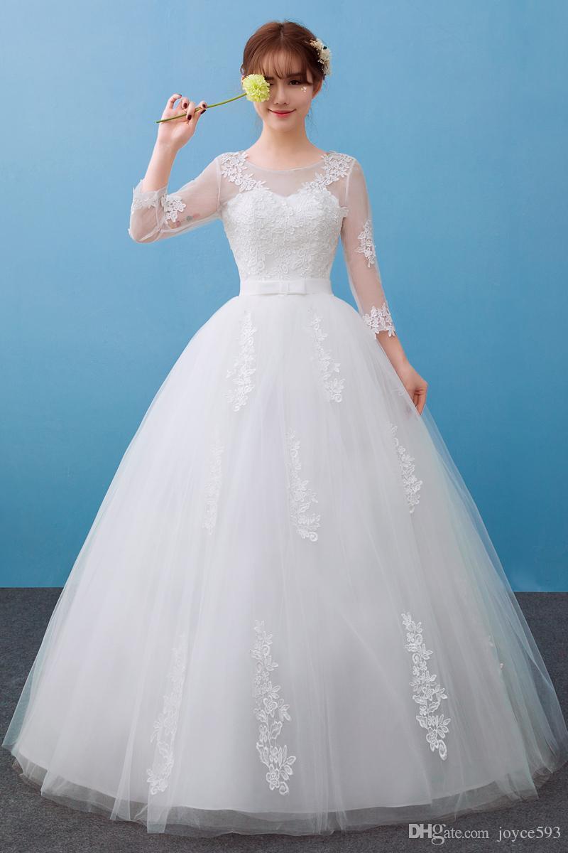 Vestido De Novia Wedding Dress 2017 New The Bride Elegant O Neck ...