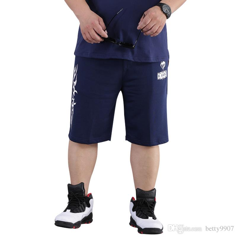 a16f3146011 2019 Mens Designer Summer Shorts Pants Plus Size 8XL Casual Sports Fitness  Capris Drawstring Elastic Waist Knee Length New 2018 Fashion Clothes From  ...
