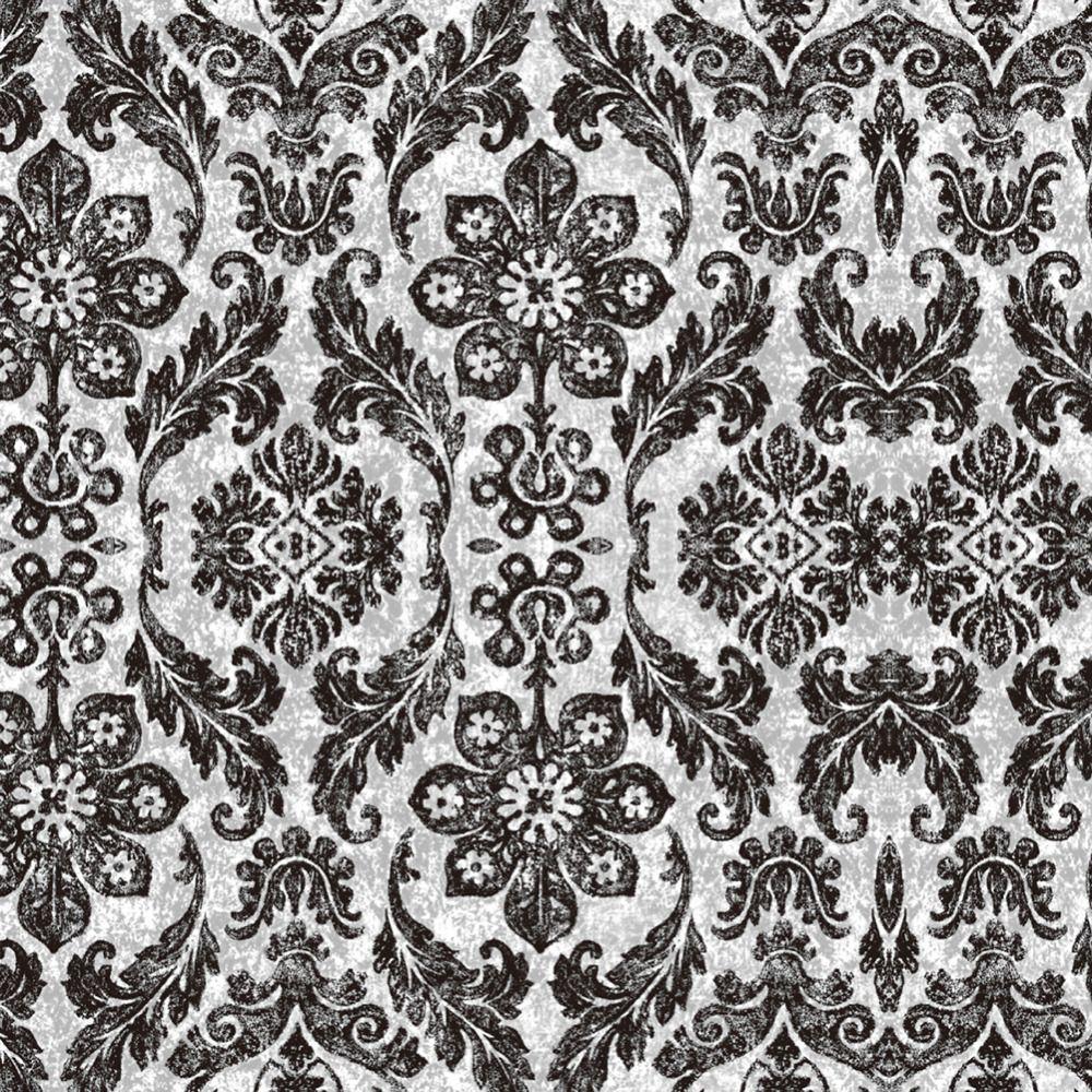 HaokHome Vintage Floral Damask Peel And Stick Wallpaper Diamond Black Mushroom Self Adhesive Living Room Bedroom Home Decor Wallpapers Hd Photos
