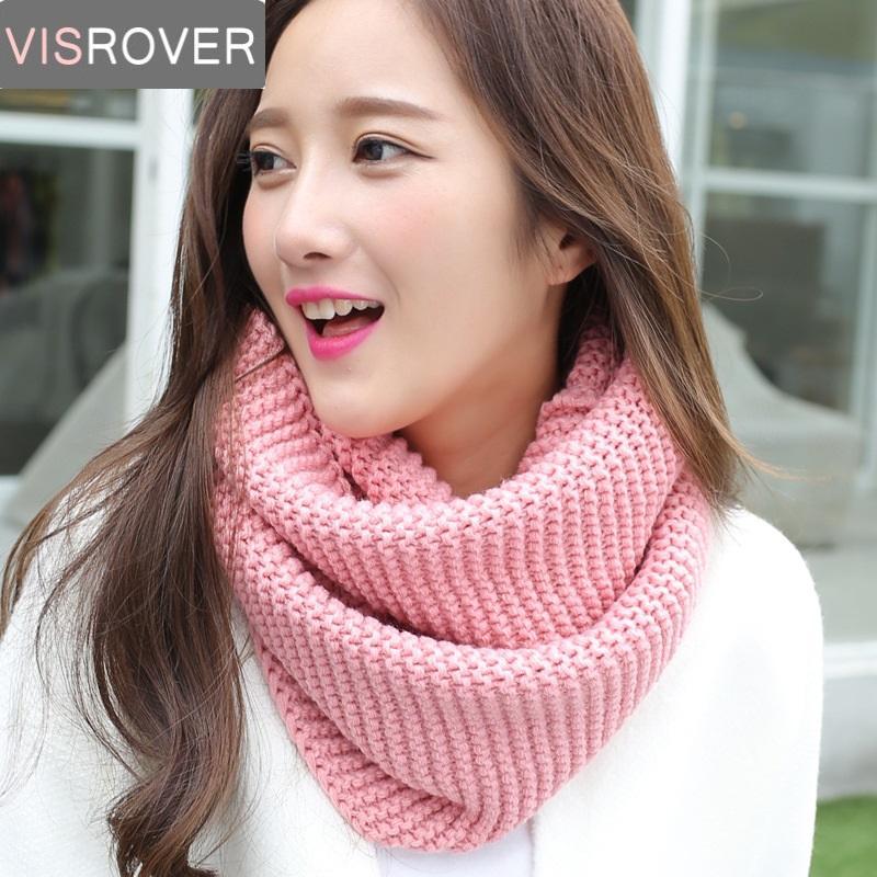 Visrover Winter Women Scarf Warm Infinity Snood Ladies Ring Loop