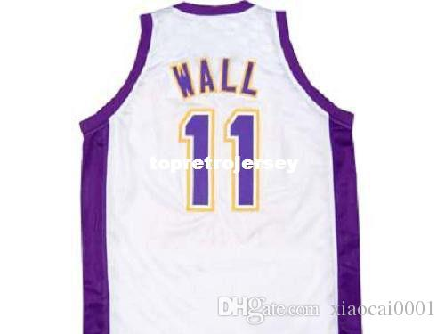 size 40 3501d 81c31 Cheap Mens JOHN WALL HOLY RAMS HIGH SCHOOL JERSEY WHITE NEW ANY SIZE XS -  5XL Retro Basketball Jerseys