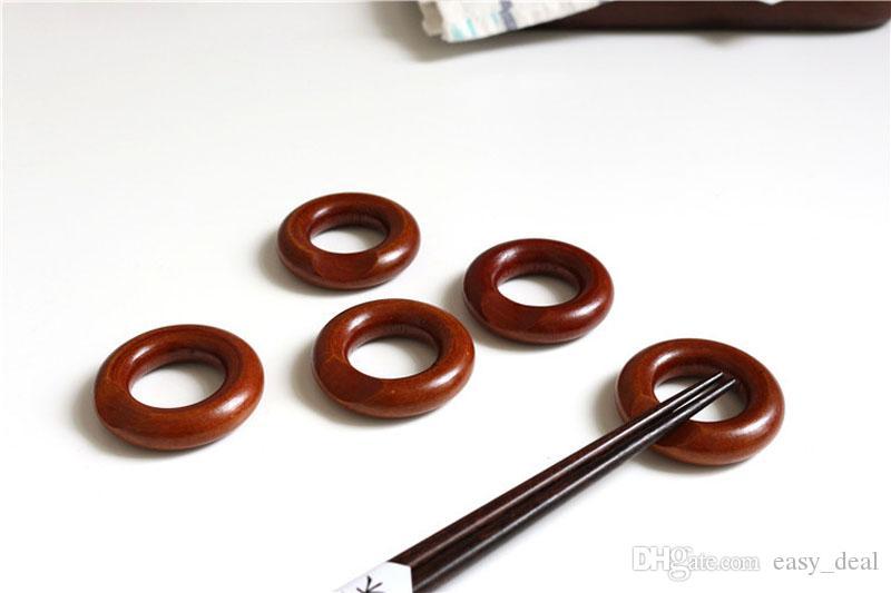 Bacchette di legno stile giapponese bacchette 5 * 1.5 cm anello bacchette Nanmu bacchette cornice decorazione della tavola ZA5873
