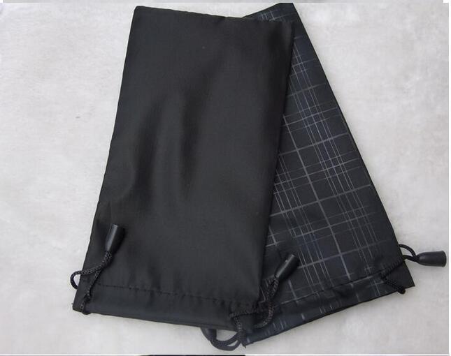 Mulheres moda grade bolsa preta bolsa de óculos macios saco de óculos caso quente à prova d 'água óculos de sol 100 pçs / lote 17.5 * 9 cm