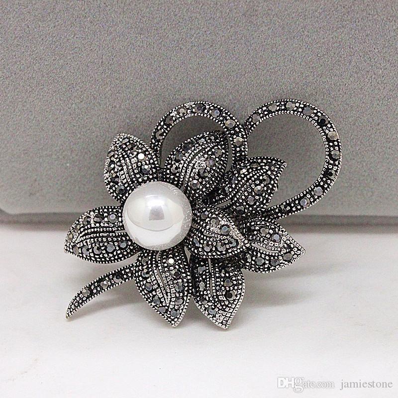 Set di gioielli in cristallo di colore antico pistola. Spille musulmane di sicurezza con spilla Hijab