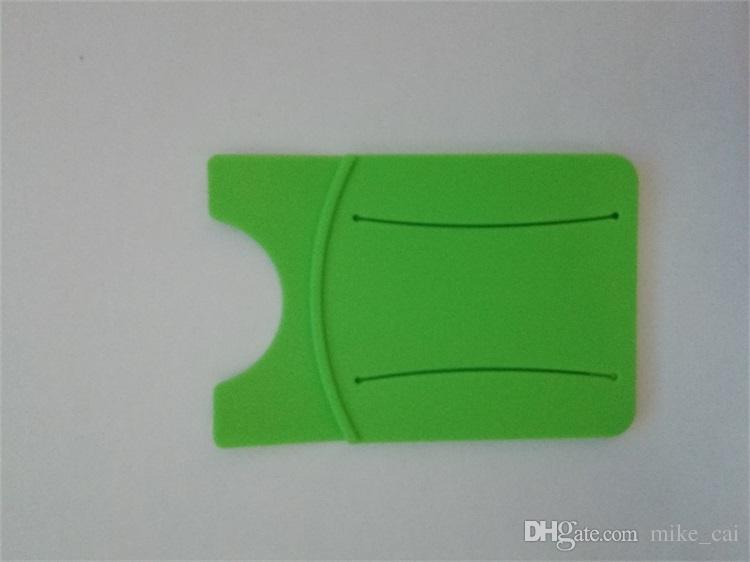 صديقة للبيئة تصميم جديد OEM LOGO توريد مصنع حامل الهاتف الخليوي بطاقة ملصقا حامل سيليكون حامل الهاتف النقال بطاقة الهوية السيليكون