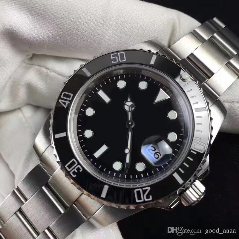 fb2e532b900 Relógio Submarino Venda Quente Automático Mecânica Marca De Safira Em Aço  Inoxidável Preto Dial Original Fecho Mens Relógios De Good aaaa